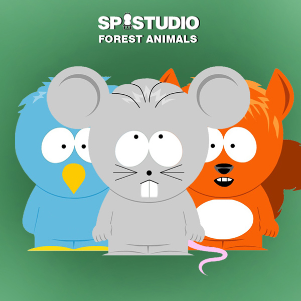 South Park style animals