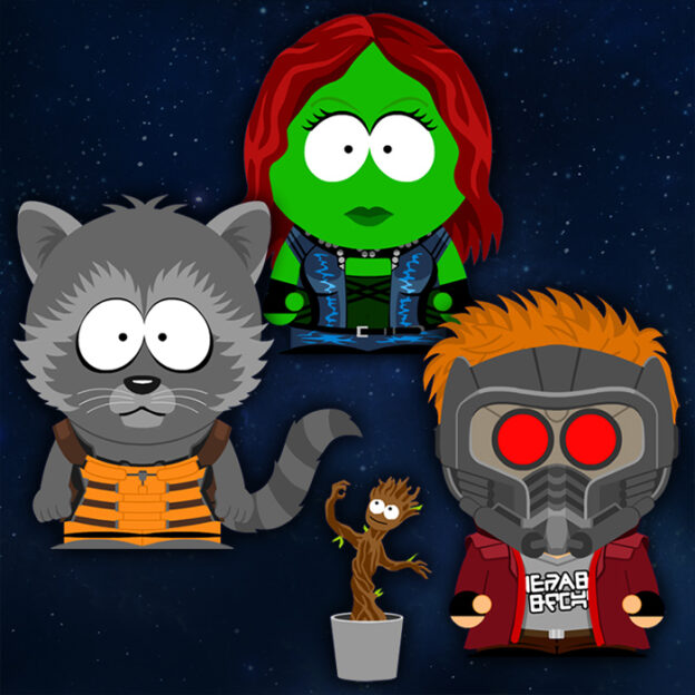 South Park x Guardians of the Galaxy costumes
