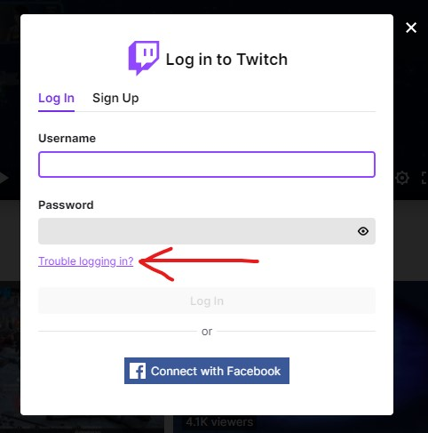 Twitch login